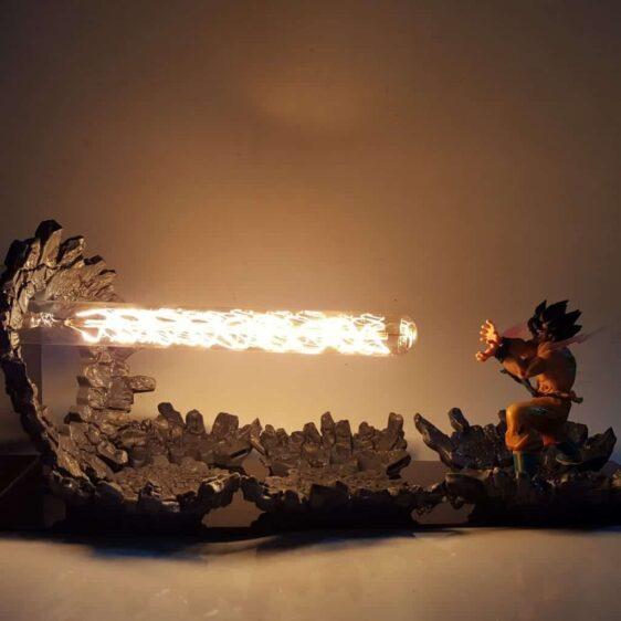 DBZ Son Goku Kamehameha Wave Yellow DIY 3D LED Light Lamp