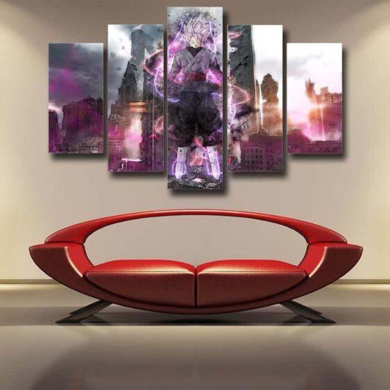 DBS Goku Black Modern City Decor 5pc Poster Canvas Prints Wall Art