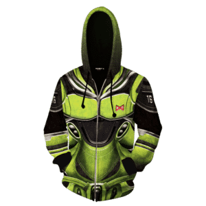 Dragon Ball Z Android 16 Armor Suit Cosplay Zip Up Hoodie