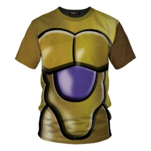 DBZ  Perfected Golden Frieza Body Armor Cosplay T-Shirt