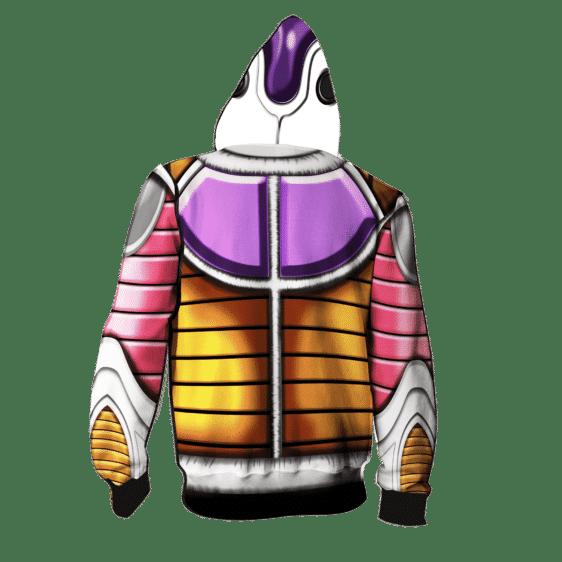 Dragon Ball Z Frieza Classical Armor Cosplay Zip Up Hoodie