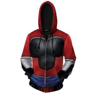 DBZ Super Saiyan 4 Gohan Inspired Cosplay Zip Up Hoodie