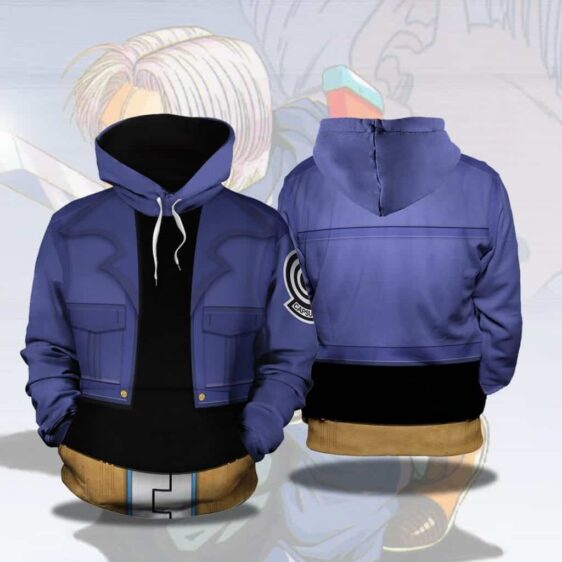 Dragon Ball Z Trunks Inspired Blue Cosplay Stylish Hoodie