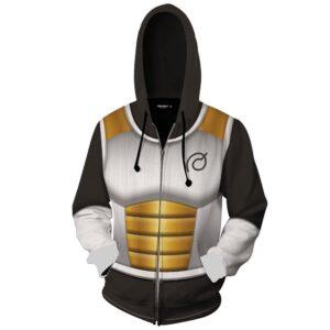 DB Xenoverse 2 Vegeta Black Armor Suit Cosplay Zip Up Hoodie