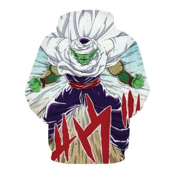 DBZ Anime Piccolo Evil King Anger Release Full Print Cool Design Hoodie