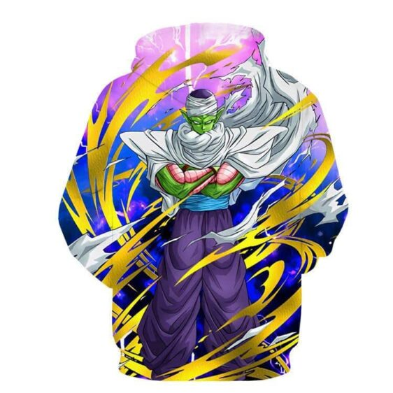 DBZ Anime Piccolo Evil King Tornado Power Streetwear Cool Design Hoodie