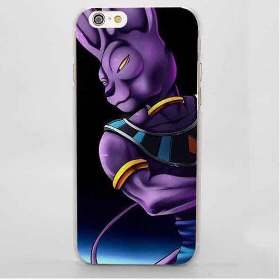 DBZ Beerus Destruction God Fan Art Style iPhone 4 5 6 7 Plus Case