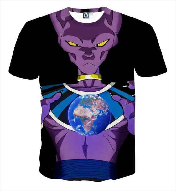 DBZ Beerus God Destruction Earth Dope Design Streetwear T-Shirt