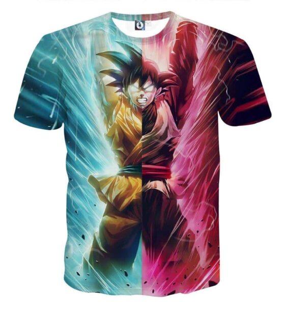 DBZ Black Goku Kakarot Spirit Bomb Destruction Streetwear Design T-Shirt