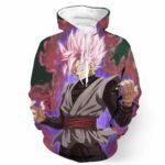 DBZ Black Goku Purple Aura Potara Fusion Cool Design Pocket Hoodie - Saiyan Stuff