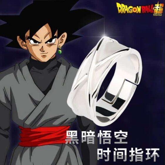 DBZ Black Goku Super Saiyan Potara Fusion Cool Silver Cosplay Time Ring - Saiyan Stuff - 1