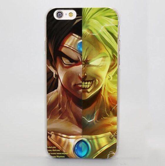 DBZ Broly Legendary Super Saiyan Portrait Realistic iPhone 4 5 6 7 Plus Case