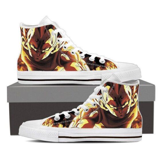 DBZ Burning Majin Vegeta Evil Spirit Saiyan Dope Design Converse Sneaker Shoes