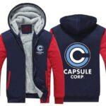 DBZ Capsule Corporation Red & Blue Zip Up Hooded Jacket
