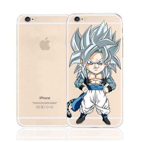 DBZ Cute Chibi Gogeta Super Saiyan SSJ5 Character Back Cover for iPhone 6 6s Plus