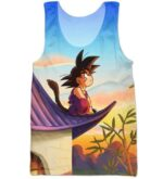 DBZ Cute Kid Goku Sitting Sky All Over Print Tank Top - Saiyan Stuff