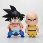 DBZ Cute Teen Kid Goku Krillin Collection 1 set 2 pieces Anime PVC Figure Toys - Saiyan Stuff - 1