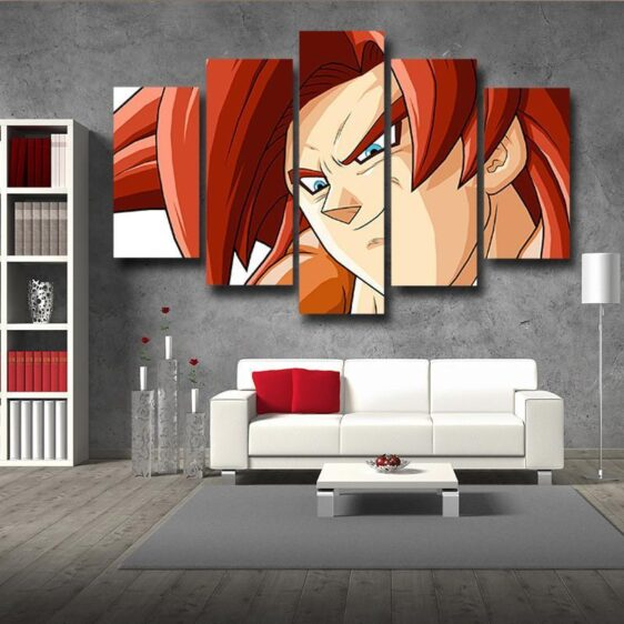 DBZ Gogeta Super Saiyan Portrait 5pc Wall Art Decor Posters Canvas Prints