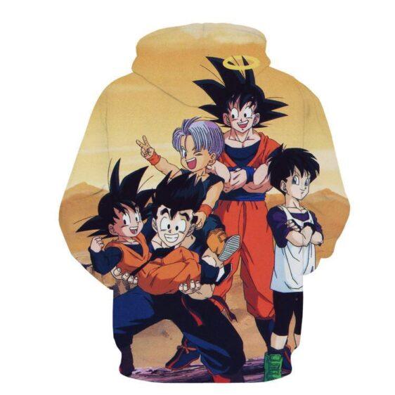 DBZ Goku Angel Kids Gohan Goten Trunks Family Cool Design Winter Hoodie