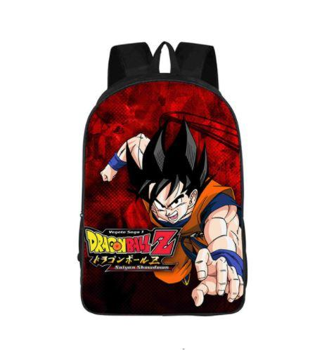 DBZ Goku Attack Poster Style Printed School Backpack Bag