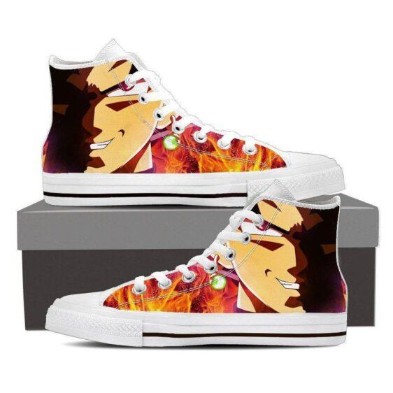 DBZ Goku Black Fusion Earing Villain Evil Converse Sneaker Style Shoes