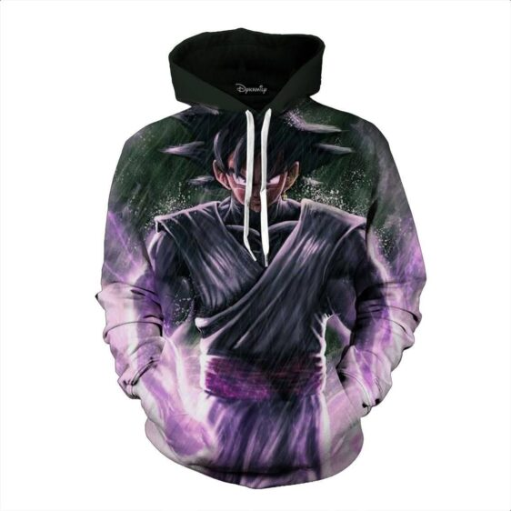 DBZ Goku Black Zamasu Evil Super Saiyan Street Style Pocket Hoodie