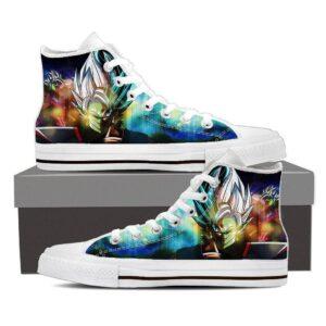 DBZ Goku Black Zamasu Fusion Villain Vibrant Graphic Casual Sneaker Shoes