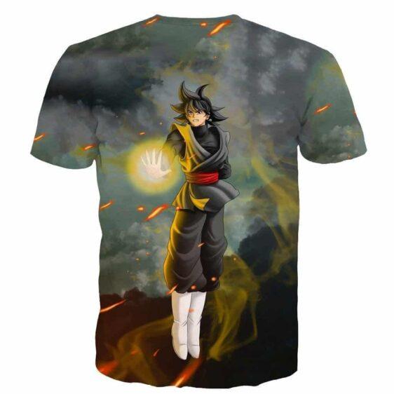 DBZ Goku Black Zamasu Potara Fusion Realistic Drawing Style Cool T-Shirt