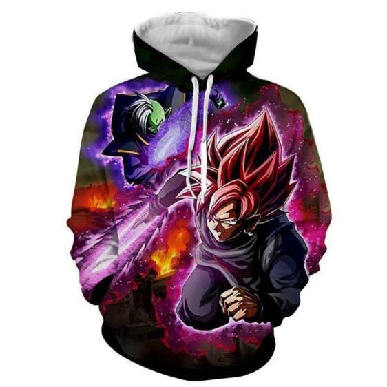 DBZ Goku Black Zamasu Super Saiyan Rose Dope Vibe Streetwear Hoodie