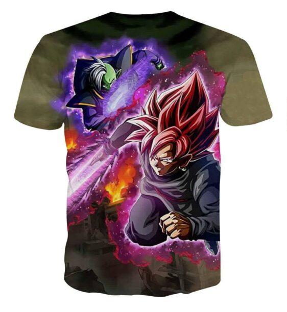 DBZ Goku Black Zamasu Super Saiyan Rose Dope Vibe T-Shirt