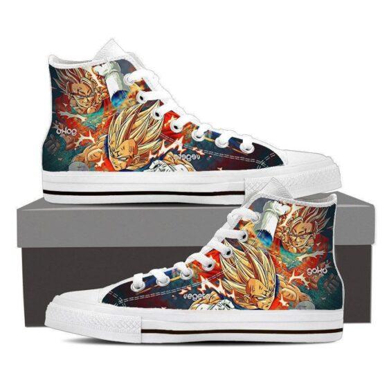 DBZ Goku Fight Majin Vegeta Super Saiyan Fan Art Style Casual Sneaker Shoes