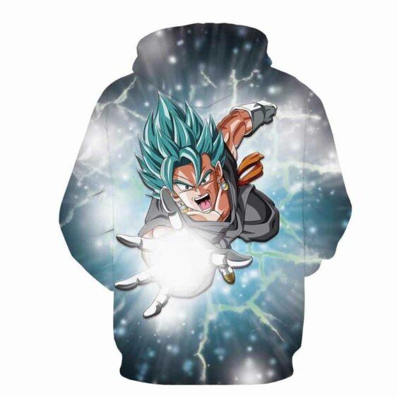 DBZ Goku God Angry Attack Saiyan Blue SSGSS Potara Design Hoodie - Saiyan Stuff - 2