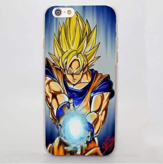 DBZ Goku Kamehameha Fan Art Design iPhone 4 5 6 7 Plus Case