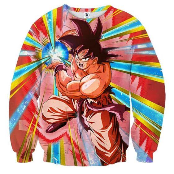 DBZ Goku Kamehameha Power Vibrant Design Sweatshirt
