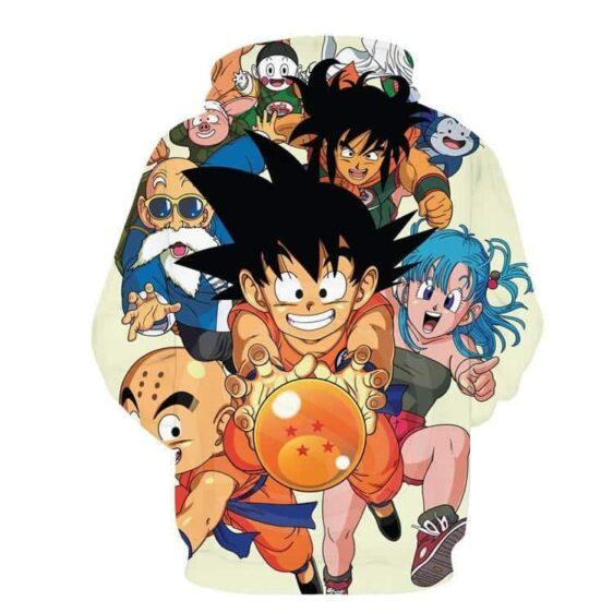 DBZ Goku Kid Master Roshi Bulma Krillin Chasing Dragon Ball Funny Hoodie