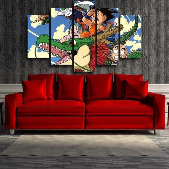 DBZ Goku Kid Piccolo Krillin 5pc Wall Art Decor Posters Canvas Prints