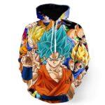 DBZ Goku Saiyan God Blue SSGSS Whis Symbol Cool Design Hoodie