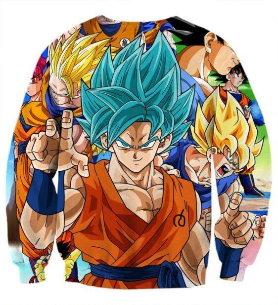 DBZ Goku Saiyan God Blue SSGSS Whis Symbol Cool Design Sweatshirt