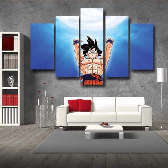 DBZ Goku Spirit Bomb Skill Dope Design 5pc Canvas Prints Wall Decor