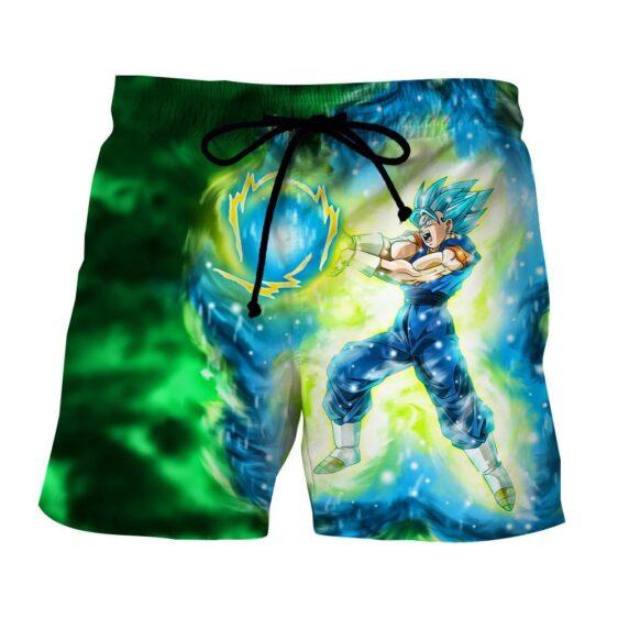 DBZ Goku Super Saiyan Blue SSGSS Kamehameha Power Attack Shorts