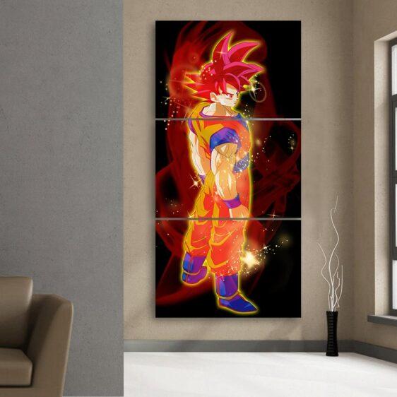 DBZ Goku Super Saiyan Rose Japan Anime 3Pc Canvas Print