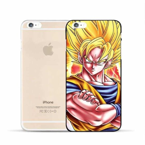 DBZ Goku Super Saiyan Muscular SSJ2 Epic Fan Art Design Hard PC iPhone 5 6 7 s Plus Case