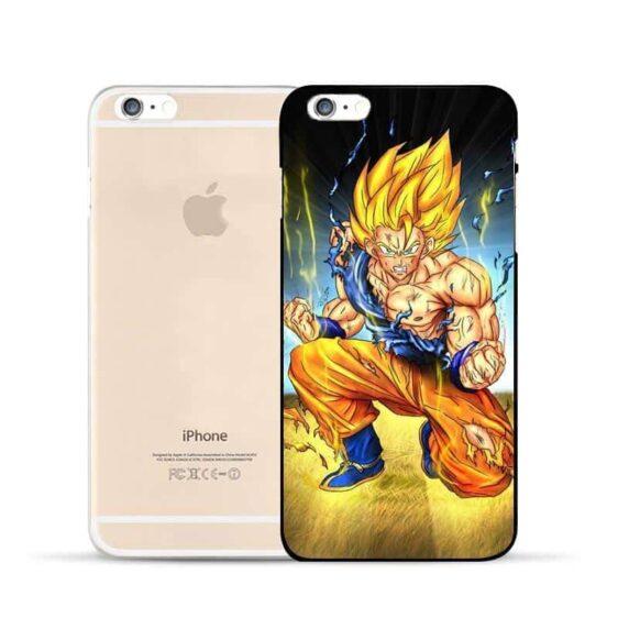DBZ Goku Super Saiyan Thunder Power Damage Fight Hard PC iPhone 5 6 7 s Plus Case
