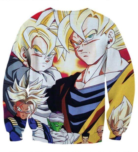 DBZ Goku Trunks Gohan Vegeta All Heroes Together Street Style Sweatshirt