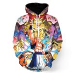 DBZ Goku Vegeta Fusion Saiyan Gogeta Colorful Design Streetwear Hoodie