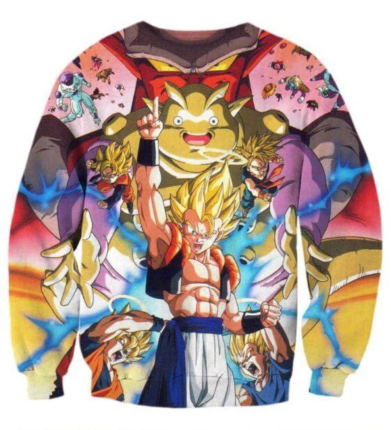 DBZ Goku Vegeta Fusion Saiyan Gogeta Colorful Design Streetwear Sweatshirt