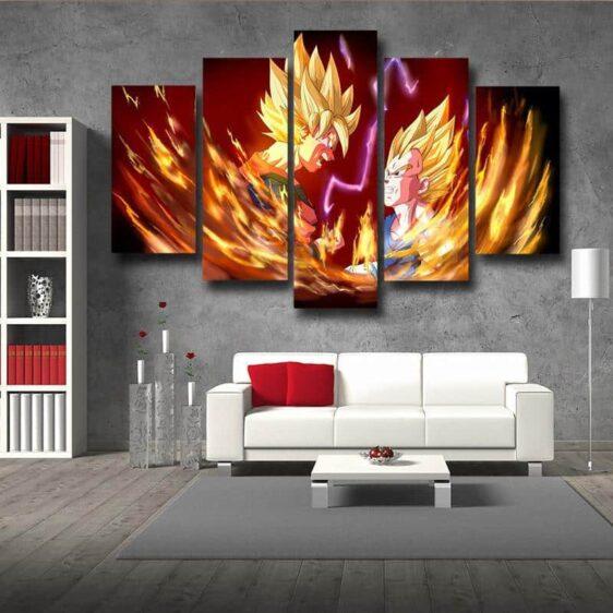 DBZ Goku Vegeta Legendary Super Saiyan 5pc Wall Art Decor Posters Canvas Prints