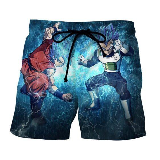 DBZ Goku Vegeta SSGSS Super Saiyan God Blue Awesome Style Summer Shorts
