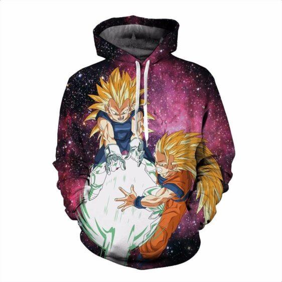DBZ Goku Vegeta Super Saiyan Kamehameha Attack Galaxy Trendy Design Hoodie - Saiyan Stuff