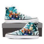 DBZ Goku Vegeta Gogeta Super Saiyan Fusion Blue Sneaker Shoes